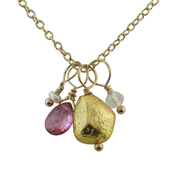 Isabelle Grace Nugget Charm Necklace for BCA